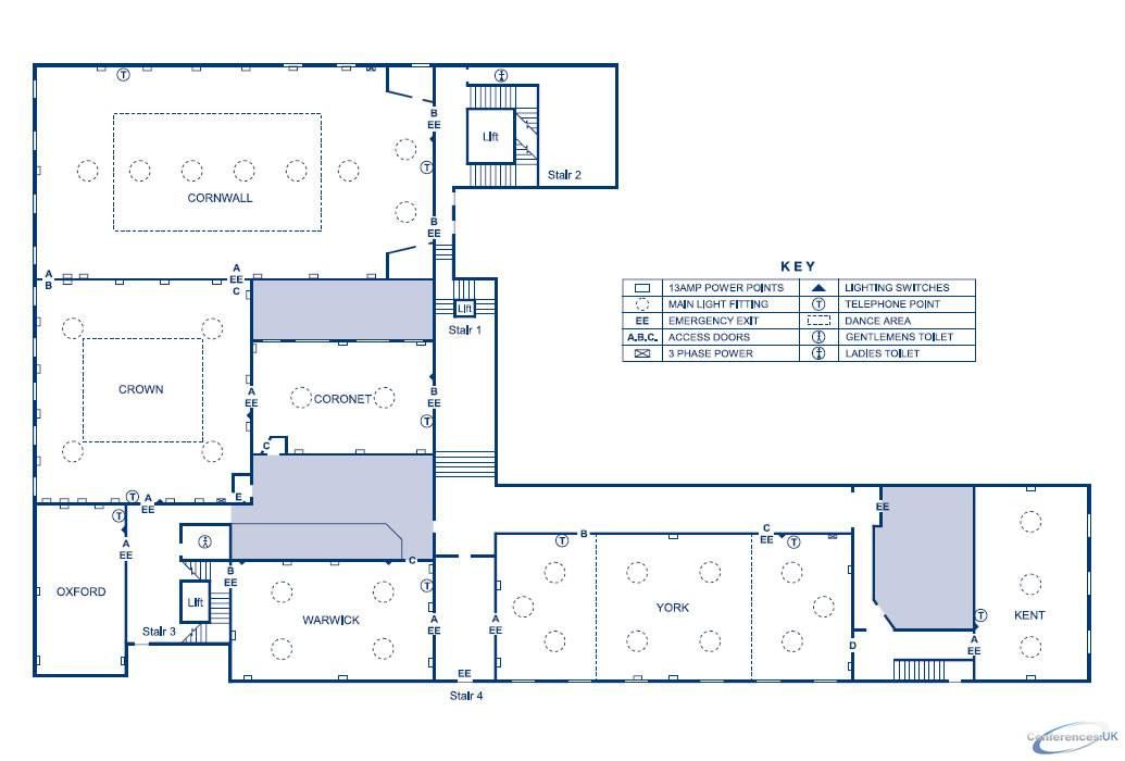 Floor plan for de vere grand connaught rooms london 81 for Grand design floor plans