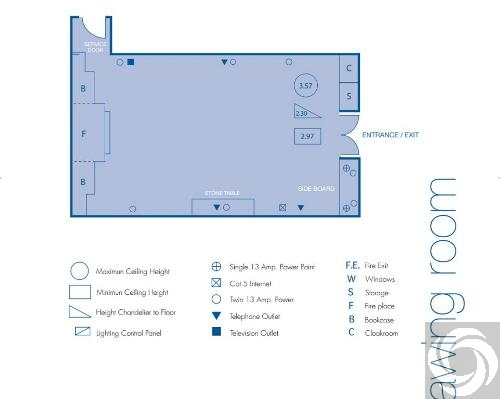 Floor plan for Hyatt Regency Hotel Birmingham-421 |
