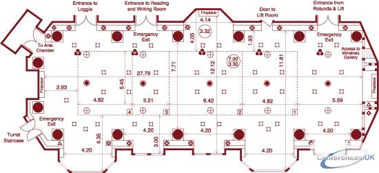 Floor Plan For The Royal Horseguards One Whitehall Place